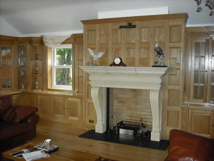 opulent oak wood panelling | study room wood panelling | wall