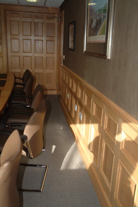 oak wall panelling for studies made in the uk by wall panelling experts for ATG access ltd cheshire