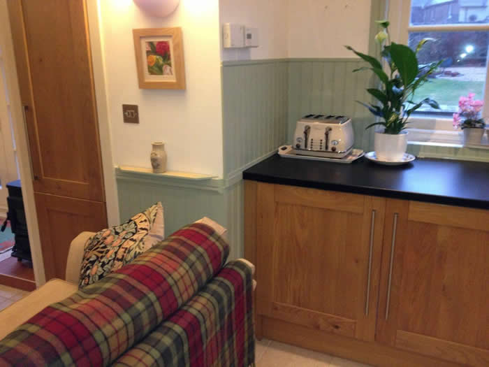 read and bead panelling kitchen makeover