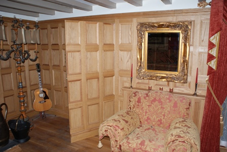 oak panelling with secret doors staffordshire