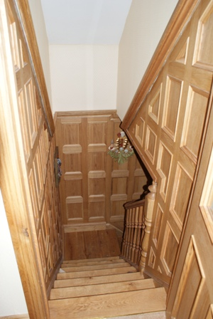 oak staircase wall panelling staffordshire