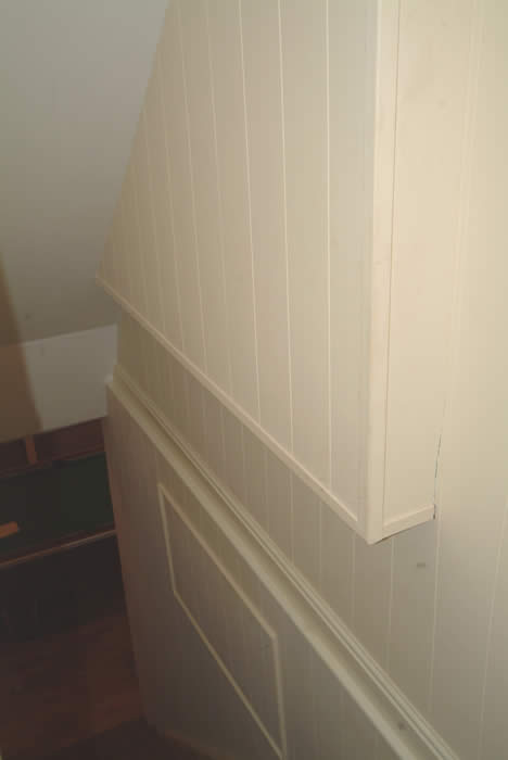 tongue and groove wall panelling  for going downstairs