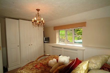 6 mm tongue and groove wall panelling in a bedroom by wall paneling experts the secret garden south wales with sykes cottages