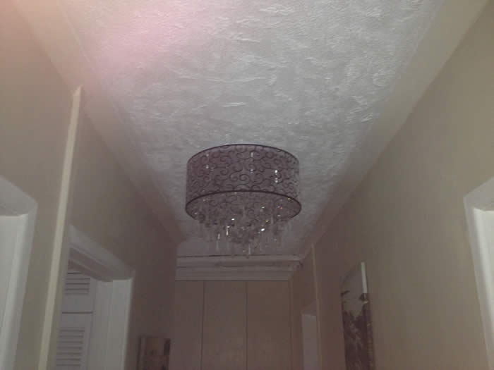 ugly artexed ceiling
