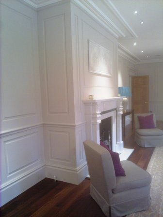 living room wall panelling london