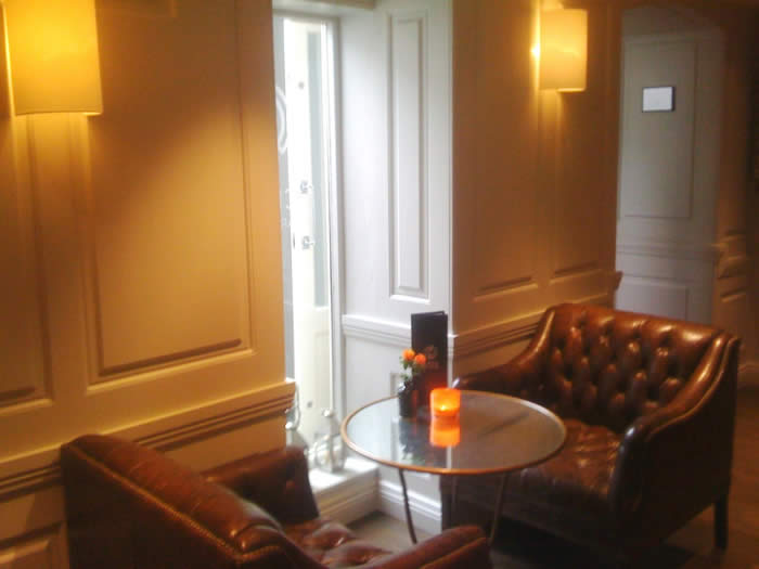 wall panelling at halcyon  hotel boutique bath