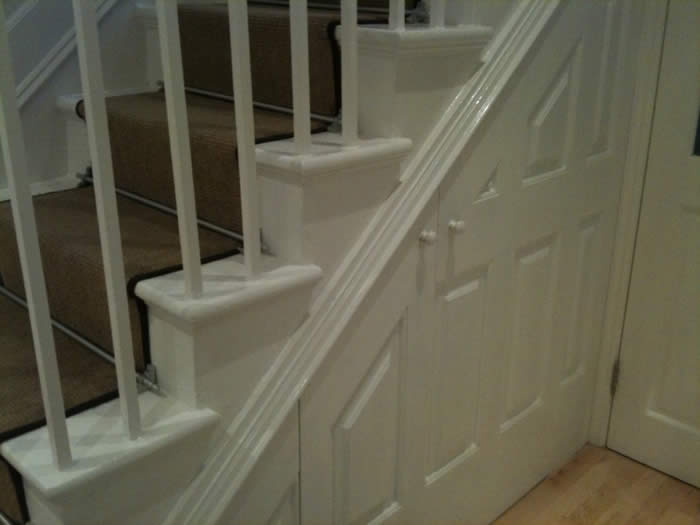 staircase wall panelling almorah road london