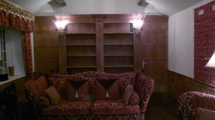 bookcases oak by wall panelling experts made in the uk mobberley hall cheshire