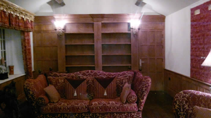 wooden wall panelling by wall panelling for Mobberley Hall cheshire