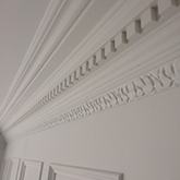 specially made dental coving and fancy top rail with beaded panelling made in Brtain