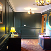 entrance hall beaded wall panelling