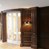 oak wall panels for belgravia london finished in a rich dark colour