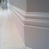 close up skirting board moulds by wall panelling experts made in Britain