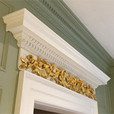 close up of matching archway and coving and wall panelling  detail made in Brtain